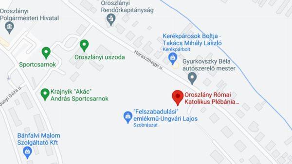 Templom a térképen